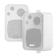 Enrock Audio Systems 4-Inch 3-Way In Door/Out Door Box-Speaker (White) - Pair