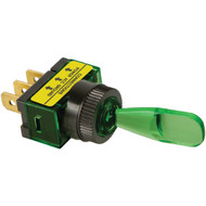 BATTERY DOCTOR 20501 On/off Illuminated 20-Amp Toggle Switch (Green) (R-WIR20501)