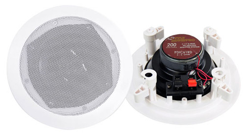Pair Pyle PDIC61RD 6.5'' Two-Way In-Ceiling Speaker System