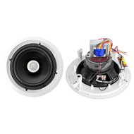 Pair Pyle PDIC80T 8'' Two-Way In-Ceiling Speakers w/70V Transformer