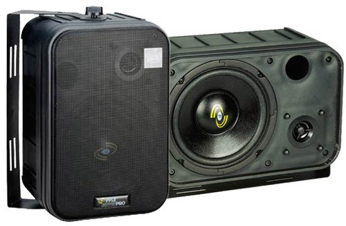 Pair Pyle PDMN58 6.5'' Two-Way Mini-Monitor System & Bookshelf/wall mount Speakers