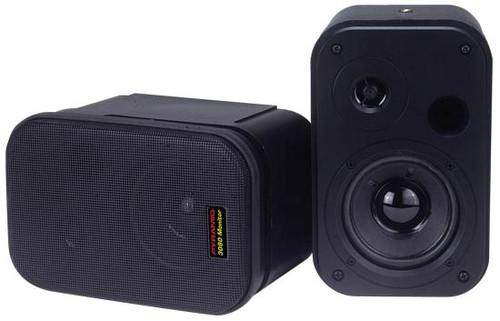 Pyramid 3080 3.5'' 2-Way 300 Watt bookcase speaker & Studio Monitor DJ Pro