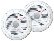 Pair Pyle PLMR60W 150 Watts 6.5'' 2 Way White Marine Speakers Kit