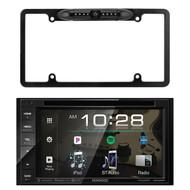 "Kenwood 6.2"" 2-Din In-Dash Sirius/MP3/WMA DVD Monitor Bluetooth Receiver, Enrock Car License Plate Frame Rear View Backup Waterproof Camera"