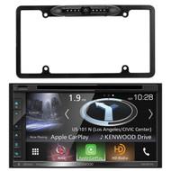 "Kenwood 2-DIN Navigation In-Dash DVD/CD/AM/FM Bluetooth Car Stereo w/ 6.8"" Resistive Touchscreen, Enrock Car License Plate Frame Rear View Backup Waterproof Camera"