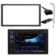 """Dual AV Double Din 6.2"""" Touch Screen DVD Bluetooth USB Receiver, DUAL DualCast(TM) Wi-Fi USB/HDMI(R) Dongle for improved storage, Enrock Double DIN Installation Dash Kit, Metra Radio Wiring Harness, Enrock Antenna Adapter"""