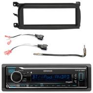 Kenwood Single DIN Audio USB Bluetooth Digital Media Receiver, Single-DIN Dash Kit , Metra 2 Pin Rectangular Speaker Connector, Antenna Adapter (Select 2001-2009 Vehicles)
