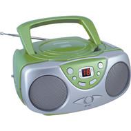 SYLVANIA SRCD243M GREEN Portable CD Boom Box with AM/FM Radio (Green) (R-CURSRCD243MGR)