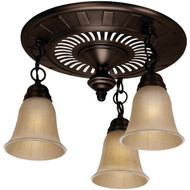 HUNTER 80707 The Garden District(R) 70cfm Ceiling-Exhaust Bath Fan in Oil-Rubbed Bronze (R-HHC80707)