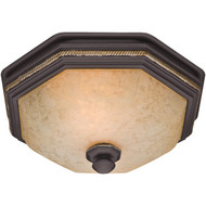 HUNTER 82023 Belle Meade 80cfm Ceiling-Exhaust Bath Fan with Snowflake Glass (R-HHC82023)