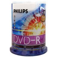 PHILIPS DM4S6B00F/17 4.7GB 16x DVD-Rs (100-ct Cake Box Spindle) (R-HOODM4S6B00F)