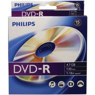 PHILIPS DM4S6B10B/17 4.7GB 16x DVD-Rs, 10-ct Peggable Box (R-HOODM4S6B10B)