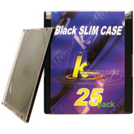 KHYPERMEDIA K-CDPSSBK-25P Slim Jewel Cases, 25 pk (R-HOOKCDPSSBK25P)