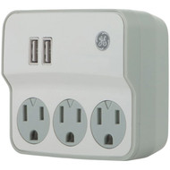 General Electric 32193 3-Outlet Current Wall Tap with USB Port (R-JAS32193)