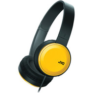 JVC HAS190MY Colorful On-Ear Headphones (Yellow) (R-JVCHAS190MY)