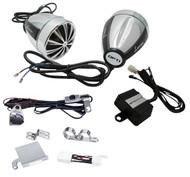 Pair Lanzar OPTIMC90 700Watt MP3 ATV Motorcycle Weatherproof Speakers 4CH Amp Kit