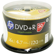 HP DR16WJH050CB 4.7GB DVD+Rs, 50-ct Printable Spindle (R-HOODR16WJH050)