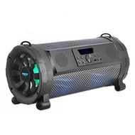 Pyle Portable Wireless Bluetooth Boombox Street Blaster Stereo Speaker & FM Radio / MP3 System with Microphone, Remote, LED Lights & Rechargeable battery, - Works with PC, iPhone, DVD, CD - PBMSPG190