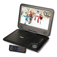 9'' Portable CD/DVD Player, Built-in Rechargeable Battery, USB/SD Card Memory Readers, Includes Accessory Kit
