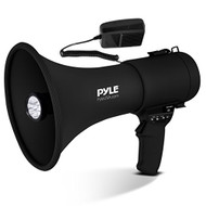 Pyle Portable Compact PA Megaphone Speaker with Alarm Siren & Adjustable Volume - 50W Handheld Lightweight Bullhorn - with Mic, AUX IN for MP3 & Rechargeable Battery - Indoor Outdoor Use - PMP561LTB