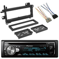 Pioneer DIN CD MIXTRAX Bluetooth Car Audio Radio, Scosche Wire Harness, Dash Kit
