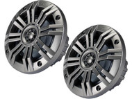 Kicker KM4 4-Inch (100mm) Marine Coaxial Speakers with 1/2-Inch (13mm) Tweeters, 4-Ohm, Charcoal and White Grilles