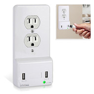 Pyle Black USB Fast-Charge Power Outlet Cover Charging Duplex Plate Black