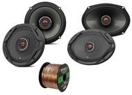 """2x JBL 6.5"""" 2-Way GX Series Speakers, 2x JBL 6x9"""" 2-Way Speakers, 50 Ft Wire"""