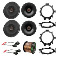 "4x Infinity Reference 6.5"" Speakers, 4x Brackets, 4x Wire Harness, 50 Ft Wire"