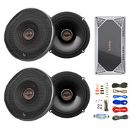 "4x Infinity 6522 Reference 6.5"" Coaxial Speakers, 4-Channel Amplifier + Kit"