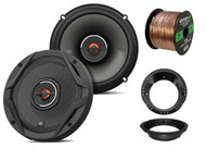 "2x JBL 6.5"" 2-Way GX Series Coaxial Speakers, 2x Harley Adapters, 50 Ft Wire"