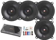 "4x Infinity Primus 5.25"" 2-Way Speakers, Infinity 4-Channel Amplifier + Kit"