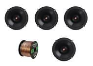 "4x Infinity Primus 6.5"" 2-Way 165-Watt Multi-Element Speakers, 16-G 50 Ft Wire"