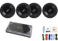 "4x Infinity Primus 6.5"" 2-Way Speakers, Infinity 4-Channel Amplifier + Kit"