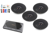 "4x Infinity Primus 6x9"" 3-Way Speakers, Infinity 4-Channel Amplifier + Kit"