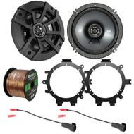 "2x Kicker CSC654 600-Watt 6-1/2"" Inch CS Series 2-Way Black Car Coaxial Speakers, with 2x Enrock Speaker Mounting Brackets, 2x Speaker Wire Harness, Enrock 16 Gauge Speaker Wire"