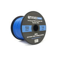 Enrock Marine Grade Spool of 50 Foot 14-Gauge Tinned Speaker Wire - Connects to A/V Receiver and Amplifier - Flexible PVC Tin Copper Plated OFC Wire Ideal For Boat