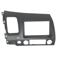 2006-2011 Honda Civic ISO Double DIN & DIN Pocket Dash Installation Kit, Atlas Gray