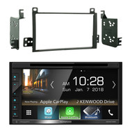 """Kenwood Double DIN 6.8"""" Touchscreen Bluetooth HD AM/FM Radio Receiver, Metra 95-5810 2-DIN Dash Installation Kit - Fits Select 2003-2011 Lincoln Towncar Models"""