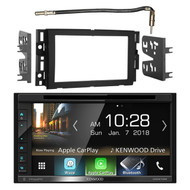 "Kenwood Double DIN 6.8"" Touchscreen Bluetooth HD AM/FM Car Radio Receiver, Metra 2-DIN Dash Installation Kit, Metra Antenna Adapter Cable - Fits Select 2006 and Up GM Vehicles"