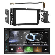 """Kenwood Double DIN Navigation Bluetooth in-Dash Touchscreen Car Stereo Receiver w/ 6.8"""" Touch Screen, Metra Antenna Adapter Cable - Fits Select 2006 and Up GM Vehicles"""