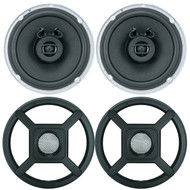"2 x Jensen Marine MS650 6.5"" Waterpoof Coaxial Speakers - 2 x 6.5"" Removable Marine Audio Grilles for Speakers (Black)"