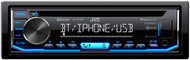JVC KD-TD70BT In Dash Single DIN CD Car Audio Receiver with Bluetooth USB Pandora iHeart Radio Spotify - iPhone Android