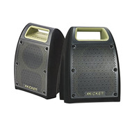 "Kicker Bullfrog 400 Bluetooth and FM Outdoor Audio System w/ 3"" Drivers (Green) - Kicker Bullfrog 200 Bluetooth and FM Outdoor Audio System w/ 2.75"" Drivers (Green)"