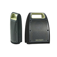 "Kicker Bullfrog 100 Bluetooth Outdoor Audio System w/ 1.65"" Drivers (Green) - Kicker Bullfrog 200 Bluetooth and FM Outdoor Audio System w/ 2.75"" Drivers (Green)"