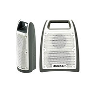 "Kicker Bullfrog 100 Bluetooth Outdoor Audio System w/ 1.65"" Drivers (Gray) - Kicker Bullfrog 200 Bluetooth and FM Outdoor Audio System w/ 2.75"" Driver (Gray)"