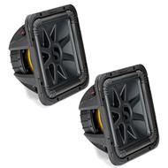 """2x Kicker Solo-Baric L7S 1500 Watt Peak 12"""" 2 Ohm Dual Voice Coil Subwoofer Bundle"""