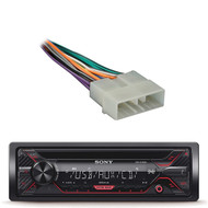 Sony CDX 55W AM FM CD MP3 Receiver with Enhanced Smartphone Connectivity, Metra 70-1002 Radio Wiring Harness for Jeep/Eagle 1988-96 Power/4 Speaker