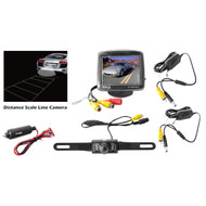 Pyle PLCM34WIR 3.5'' Monitor Wireless Back-Up Rearview & Night Vision Camera System