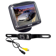 Pyle PLCM36 3.5' LCD Rear-view Night Vision Backup Camera w/ License Plate Mount